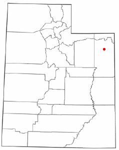 Location Of Vernal Utah