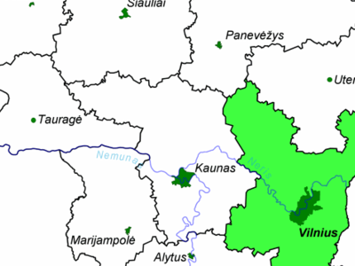 Location Of Vilnius County