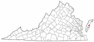 Location Of Wachapreague Virginia