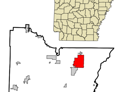 Location In Lawrence County And The State Of Arkansas