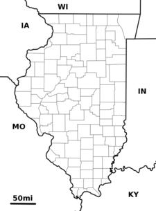 Location Of Washington Within Illinois