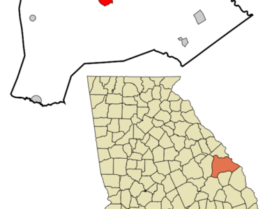 Location In Burke County And The State Of Georgia