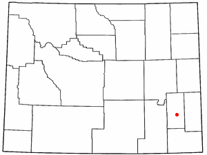 Location Of Wheatland Wyoming