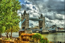 London Tower Bridge Over Thames River