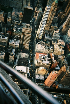 Looking Down From Empire State Building