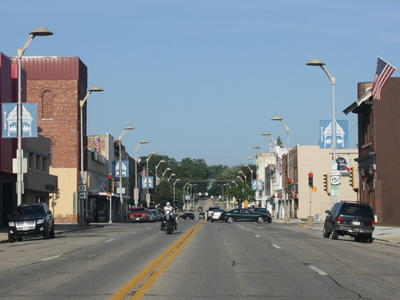 Looking East At Downtown Beaver Dam
