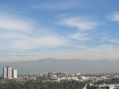 Looking East Over Burbank From Universal Studios.