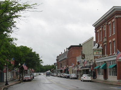 Looking West On Main Street