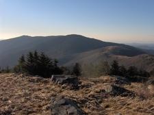 Looking West From Grassy Ridge Bald - North Carolina