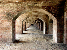 Lower Archways Of One Interior Side Of Fort Jefferson