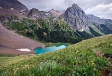 Lower Blue Lake - Mt. Sneffels Wilderness CO