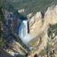 Baje las caídas del río Yellowstone