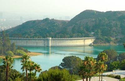 Mulholland Dam And Hollywood Reservoir