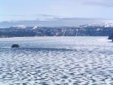 Lake Mashū In Winter