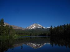 Lassen Peak Reflected In Manzanita Lake