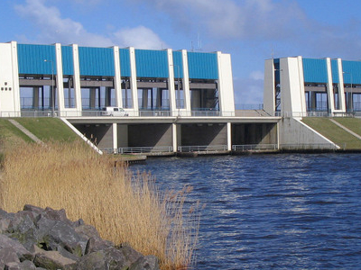 Sluice At Lauwersoog