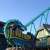 Leviathan's Sculpture, Plaza, Station And Lift Hill