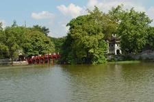 Little Bridge At Hoan Kiem Lake