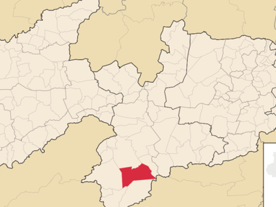 Location Of Camala Within The State Of Paraba