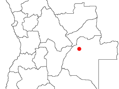 Location Of Luena In Angola