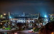 Lokomotiv Stadium At Night