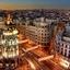 Madrid City At Night