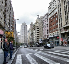 Madrid Gran Via Pedestrian Crossing