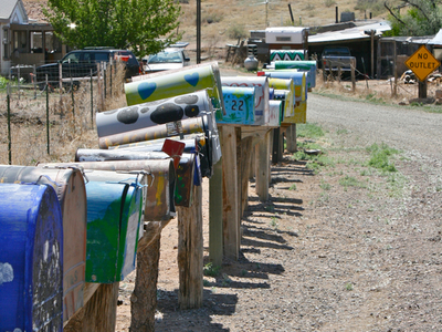 Mailboxes In Galisteo