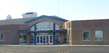 Main Entrance To New School In  Lyle