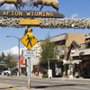 Main Street Afton With Antler Arch