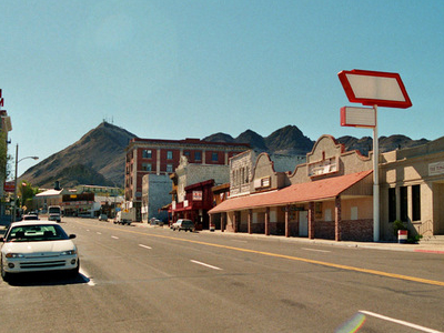 Main Street With Mizpah Hotel On The Left.
