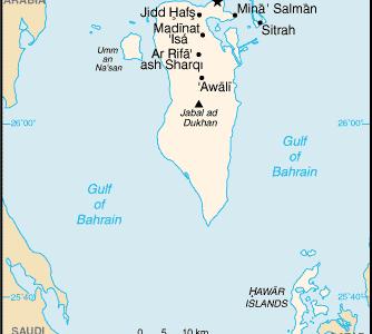 Manama And Bahrain.