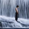 Man Below Hooker Falls NC
