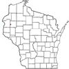 Map Indicating Location Of Turtle Lake In Wisconsin