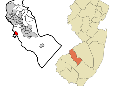 Map Of Blackwood Cdp In Camden County