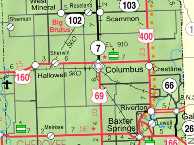 Map Of  Cherokee
