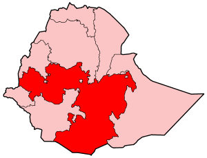 Map Of Ethiopia Showing Oromia Region