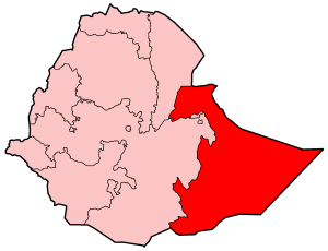 Map Of Ethiopia Showing Somali Region