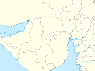 Map Of Gujaratshowing Location Of Katargam