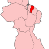 Map Of Guyana Showing Demerara Mahaica Region