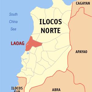 Map Of Ilocos Norte Showing The Location Of Laoag City