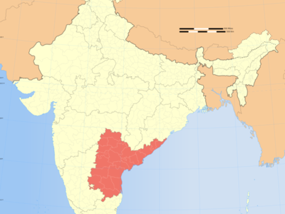 Map Of India Showing Location Of Andhra Pradesh