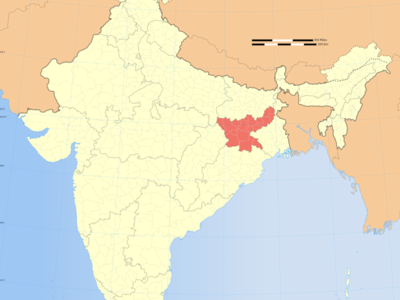 Map Of India Showing Location Of Jharkhand