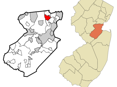 Map Of Iselin Cdp In Middlesex County