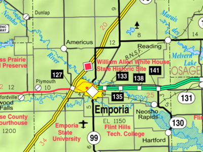 Map Of  Lyon  Co  2 C  Ks  2 C  U S A