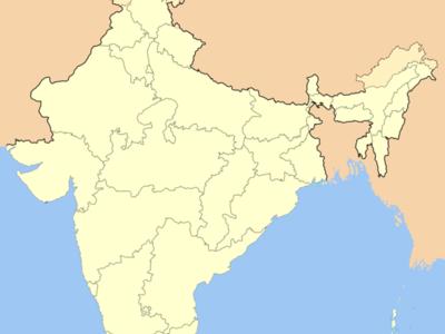 Map Of Maharashtrashowing Location Of Dhule