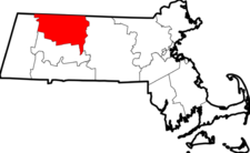 Map Of Massachusetts Highlighting Franklin County