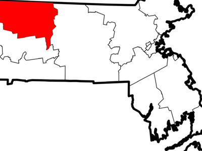 Map Of Massachusetts Highlighting Franklin County