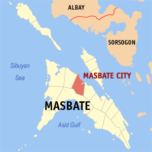 Map Of Masbate Showing The Location Of Masbate City