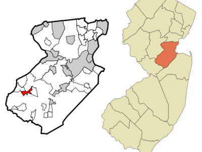 Map Of Monmouth Junction Cdp In Middlesex County